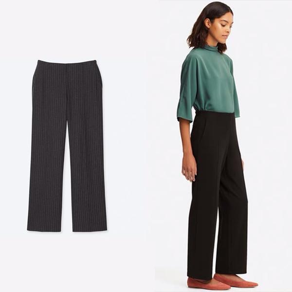 优衣库 针织高腰直筒裤 价格约199元