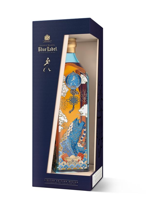 尊尼获加蓝方猪年生肖威士忌(限量版)  图片源自品牌