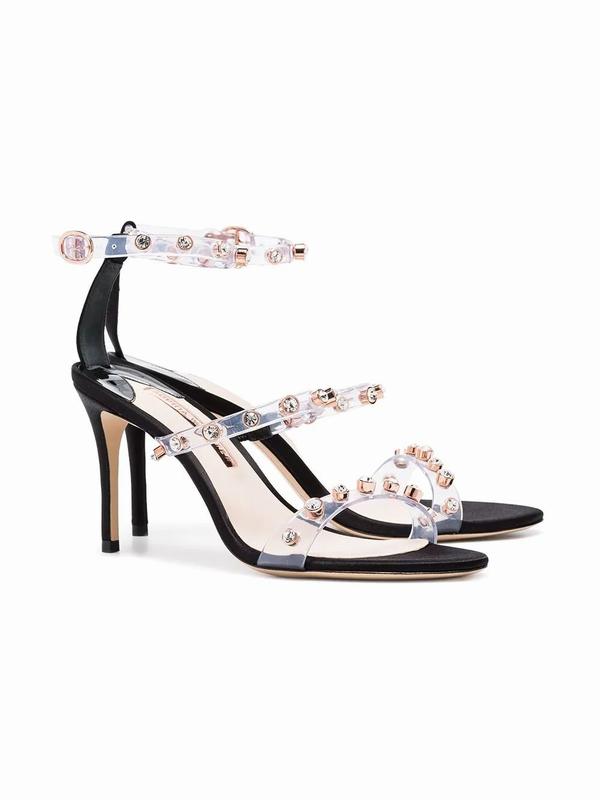 SOPHIA WEBSTER Rosalind 85珠饰透明鞋带真皮凉鞋 价格约4459元  图片源自品牌