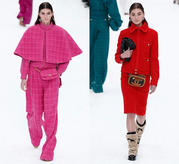 Chanel 2019/20秋冬高级成衣系列-小巧的斜纹软呢外套