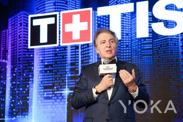 天梭表全球总裁弗朗索瓦·添宝先生(François Thiébaud)致词(图片来源于品牌)