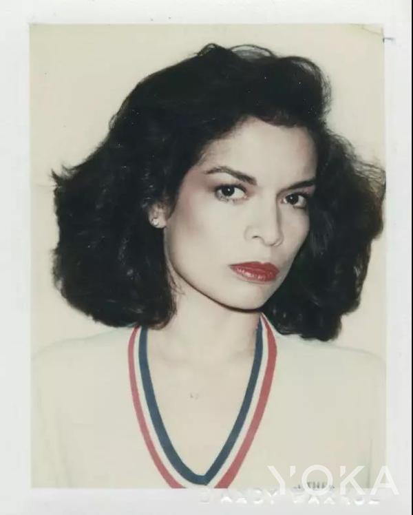 Andy Warhol為Bianca Jagger拍攝的肖像
