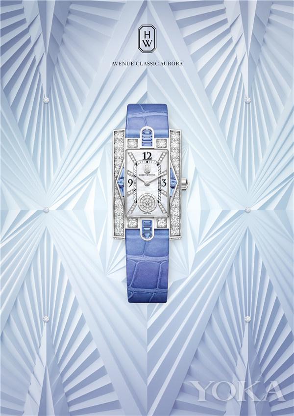 单品推荐:海瑞温斯顿第五大道Avenue Classic系列Aurora腕表(图片来源于品牌)