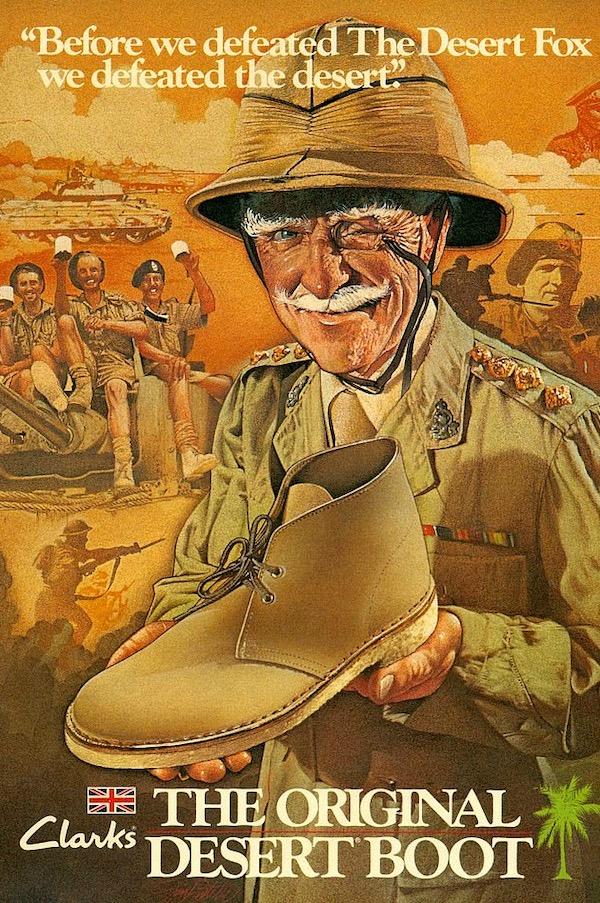 当年Clarks的经典广告  图片来源:pinterest.com
