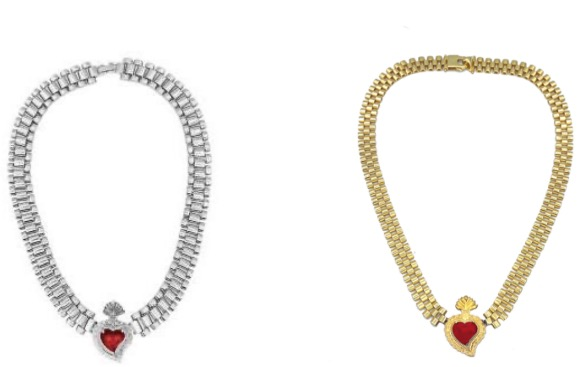 RISE Radiant watch style love necklace Whensmokeclears®RISE series-classic heart of fire