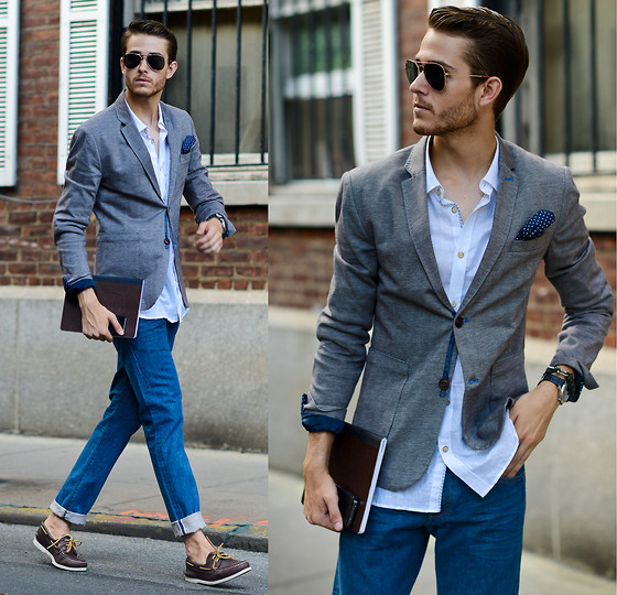 冰蓝色衬衫的6种穿法 竟可以如此清新脱俗高逼格