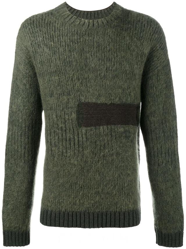 Helen Lawrence 绿色 羊毛混纺 粗绞花针织毛衣,$1,122。